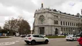 View of the Bank of Spain, Madrid. Banco de España. Royalty Free Stock Photos
