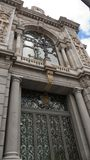 View of the Bank of Spain, Madrid. Banco de España. Royalty Free Stock Photography