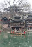 View from the bank of the Tuojiang River royalty free stock image
