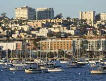A View of Bankers Hill from San Diego Bay Stock Photos
