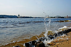 View from the banks of the Neva. Royalty Free Stock Photography