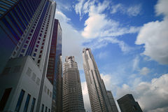 View of banks from Singapore River Stock Photography