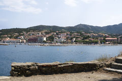 View Banyul-sur-mer in France Royalty Free Stock Photos