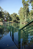 Jordan River Baptismal Site. A view at the baptismal place at the Jordan river in Israel Stock Image