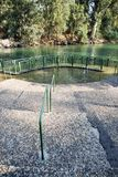 Jordan River Baptismal Site. A view at the baptismal place at the Jordan river in Israel Royalty Free Stock Photography