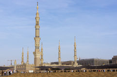 View of Baqee' Muslim cemetary at Masjid Nabawi Royalty Free Stock Photos