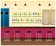The view of bar interior Stock Images