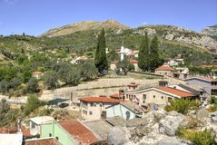 View of Bar town, Montenegro. View of a small part of Bar town in a summer day, Montenegro Royalty Free Stock Photos