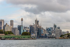 View of Barangaroo, New South Wales on a cloudy day Stock Images