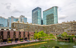 View of Barbican complex in London Stock Photo