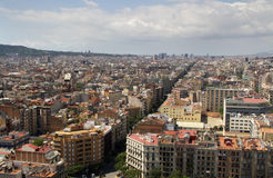 View of Barcelona. Panoramic view from the city of Barcelona Stock Photography