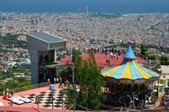 View of Barcelona from above Royalty Free Stock Photo