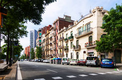 View of Barcelona. Avinguda de la Meridiana Royalty Free Stock Images