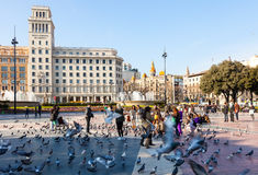View of Barcelona, Catalonia Square Stock Image