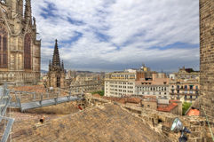 View from Barcelona Cathedral, Spain Royalty Free Stock Image