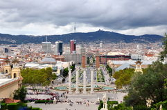 View of Barcelona. Cityscape of Barcelona from Montjuic Royalty Free Stock Image