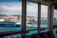 View of Barcelona from a cruise ship Stock Images