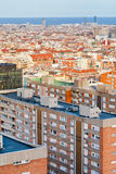 View of Barcelona in evening Royalty Free Stock Image