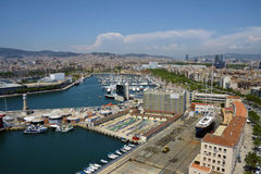 View of Barcelona harbor Stock Image