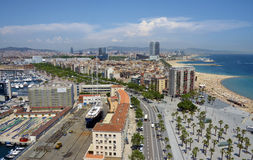 View of Barcelona harbor Royalty Free Stock Photos