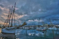 View of Barcelona Harbor royalty free stock images