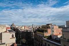 View of Barcelona from home pedrera Royalty Free Stock Photo