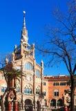 View of Barcelona. Hospital de la Santa Creu i Sant Pau Royalty Free Stock Photo