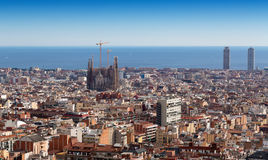 View of Barcelona from Mount Tibidabo Stock Photography