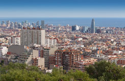View of Barcelona from Mount Tibidabo Royalty Free Stock Photo
