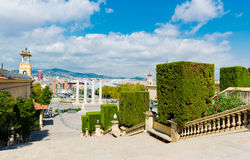 View of Barcelona from  National Palace Stock Photography