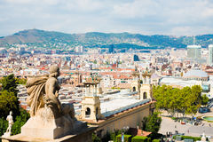 View of Barcelona from  National Palace Stock Image