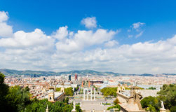 View of Barcelona from  National Palace Royalty Free Stock Image