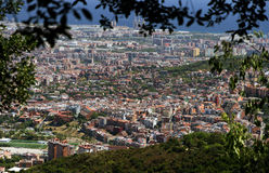 Barcelona old city. View of Barcelona old city architecture. Spain stock images