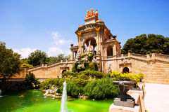 View of Barcelona,  Parc de la Ciutadella Royalty Free Stock Image