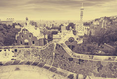View of Barcelona from Park Guell Royalty Free Stock Images