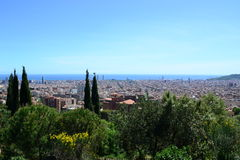 View of Barcelona from Park Guell Royalty Free Stock Photo