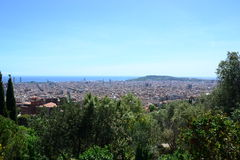 View of Barcelona from Park Guell Stock Image