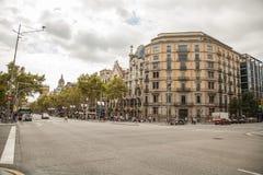 View of Barcelona. Passeig de Gracia Stock Image