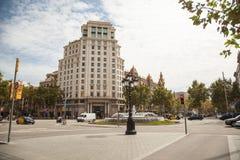 View of Barcelona. Passeig de Gracia Stock Photos
