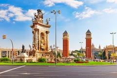 View in Barcelona on Placa De Espanya. Royalty Free Stock Photos