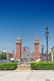 View in Barcelona on Placa De Espanya Stock Image