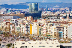 View of Barcelona from Port side stock photos