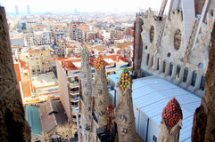 View of the Barcelona. From Sagrada Familia Royalty Free Stock Photo
