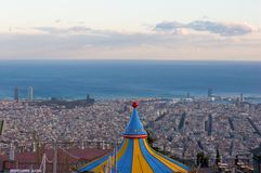 View of Barcelona from the Park Guell royalty free stock photo
