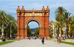 View of Barcelona, Spain. Arc del Triomf Royalty Free Stock Images