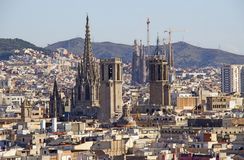 View of Barcelona, Spain Stock Photos