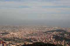 View of Barcelona, Spain. Overlooking Barcelona from Mount Tibidabo Royalty Free Stock Photos