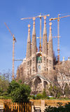View of Barcelona, Spain. Sagrada Familia Royalty Free Stock Photo