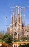 View of Barcelona, Spain. Sagrada Familia Royalty Free Stock Photo