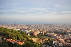 View of barcelona spain. A top view of Barcelona Spain stock photos